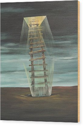 Chickasaw's Ladder Wood Print by K Hoover