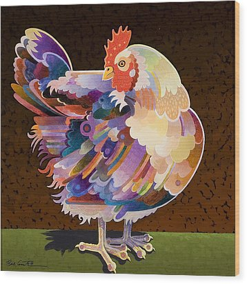 Chicken From Jamestown Wood Print