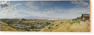 Chico Hot Springs Pray Montana Panoramic Wood Print by Dustin K Ryan