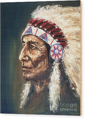 Chief Wood Print by Arturas Slapsys