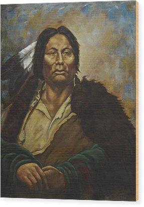Chief Gall Wood Print
