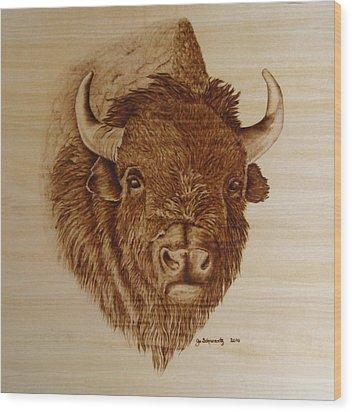 Chief Wood Print by Jo Schwartz
