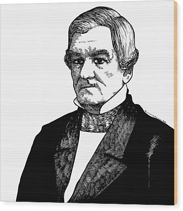 Chief John Ross Wood Print by Karl Addison