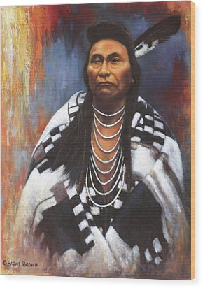 Wood Print featuring the painting Chief Joseph by Harvie Brown