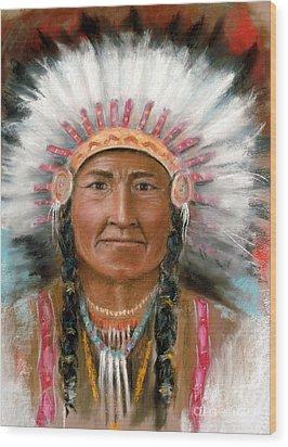Chief Joseph Wood Print by John De Young