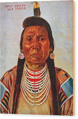 Chief Joseph, Nez Perc� Chief Wood Print by Everett