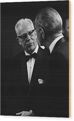 Chief Justice Earl Warren 1891-1974 Wood Print by Everett
