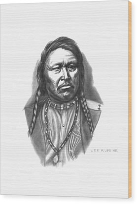 Chief Ouray Wood Print by Lee Updike