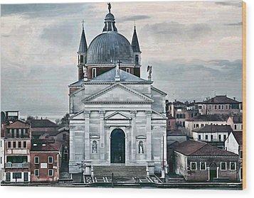 Chiesa Del Redentore Venice Wood Print by Tom Prendergast