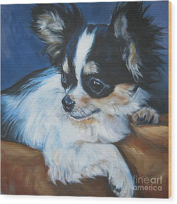 Chihuahua Wood Print by Lee Ann Shepard