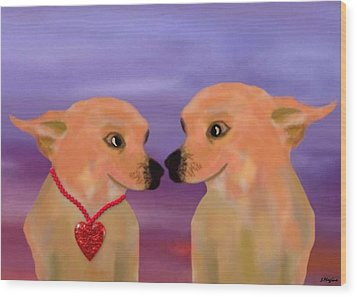 Chihuahua Sunset Wood Print by Sher Magins