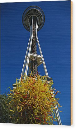 Seattle Space Needle Wood Print