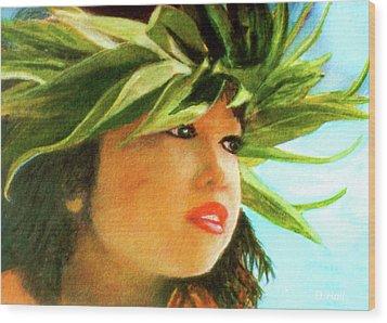 Child Keiki In Hawaiian No# 84 Wood Print by Donald k Hall