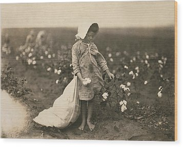 Child Labor, A Young Girl Picking Wood Print by Everett