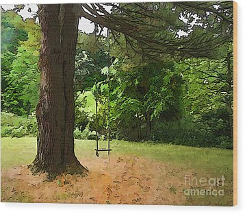 Childhood Wood Print by Betsy Zimmerli