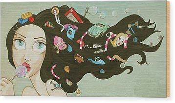 Childhood Memories Wood Print by Dania Piotti