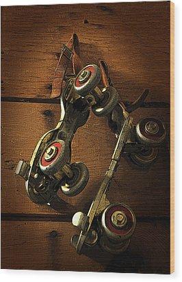 Childhood Memories Wood Print by Fran Riley