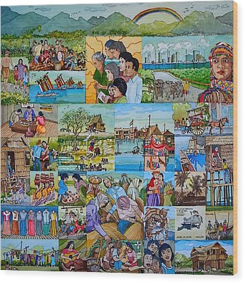 Childhood Memories Of My Mother Country Pilipinas Wood Print