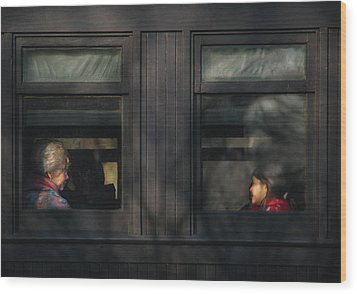 Children - Generations Wood Print by Mike Savad