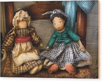 Children - Toys -  Dolls Americana  Wood Print by Mike Savad
