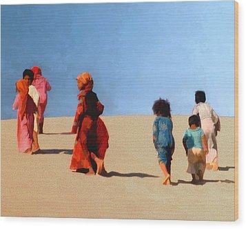 Children Of The Sinai Wood Print by Kurt Van Wagner