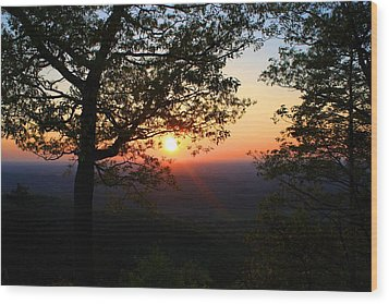 Wood Print featuring the photograph Chilhowee Sunset by Kathryn Meyer
