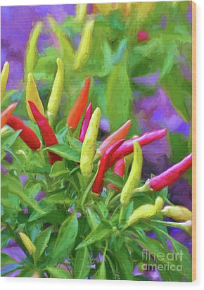 Wood Print featuring the photograph Chili Pepper Art by Kerri Farley