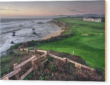Wood Print featuring the photograph Chilling At Half Moon Bay by Peter Thoeny