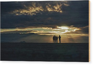 Wood Print featuring the photograph Chilling In The Desert by Peter Thoeny