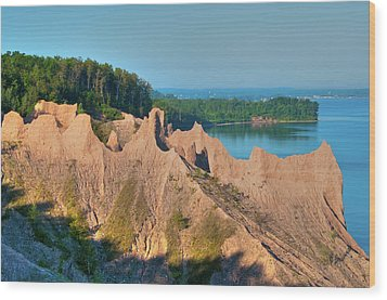 Chimney Bluffs 1750 Wood Print
