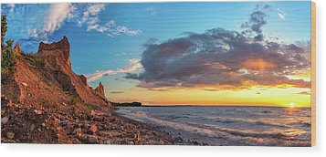 Chimney Bluffs Wood Print