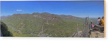 Chimney Mountain Wood Print