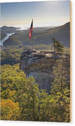 Chimney Rock State Park North Carolina Wood Print by Dustin K Ryan