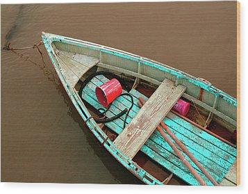 China Camp Boat Wood Print