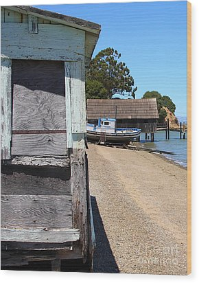 China Camp In Marin Ca - Vertical Wood Print by Wingsdomain Art and Photography