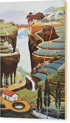 China: Poster, 1975 Wood Print by Granger