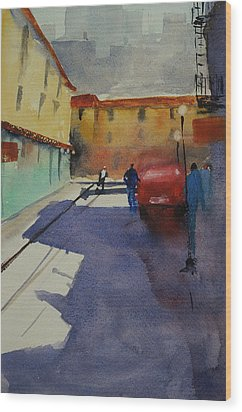 Chinatown Alley Wood Print
