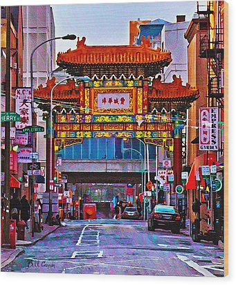 Chinatown Arch Philadelphia Wood Print by Bill Cannon