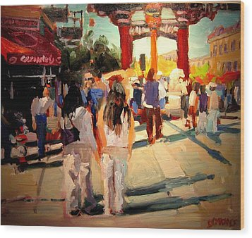 Chinatown Wood Print by Brian Simons