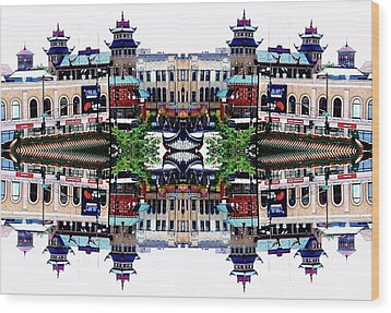 Chinatown Chicago 2 Wood Print by Marianne Dow
