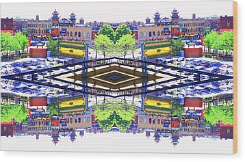 Chinatown Chicago 3 Wood Print by Marianne Dow