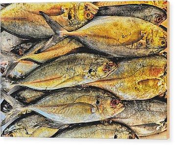 Chinatown Fish Market Nyc Wood Print by Steve Archbold