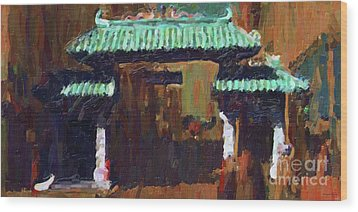 Chinatown Gate Wood Print by Wingsdomain Art and Photography