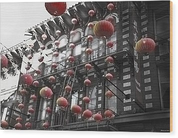 Chinatown San Francisco Wood Print by Larry Butterworth