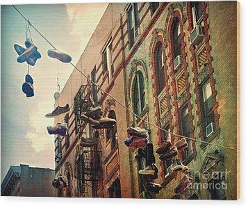 Chinatown Shoe Fling Wood Print