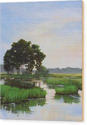 Chincoteague Marsh Wood Print