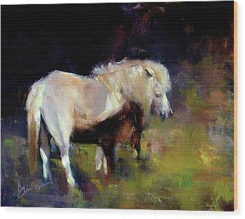 Chincoteague Pony Wood Print by Xx X