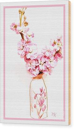 Wood Print featuring the digital art Chinese Bouquet by Marsha Heiken