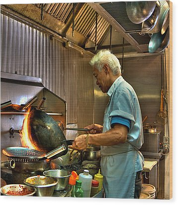 Chinese Chef Wood Print