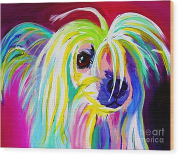 Chinese Crested - Fancy Pants Wood Print
